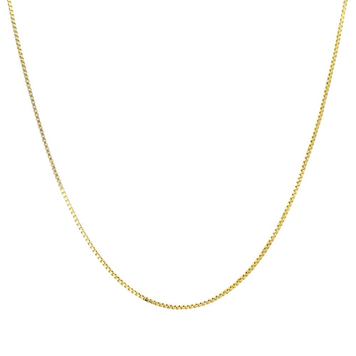 Roberto Martinez 14k Gold Box Chain Necklace (14-inch - kats closet1