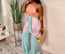 Load image into Gallery viewer, Casual Wide Leg Sleeveless Halter Jumpsuit