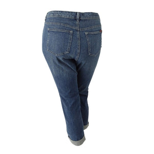 Style & Co. Women's Plus Size Patchwork Path Wash Boyfriend Jeans - kats closet1