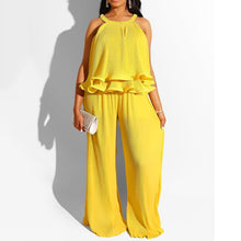 Load image into Gallery viewer, 2 Piece Loose Ruffles Pants Set