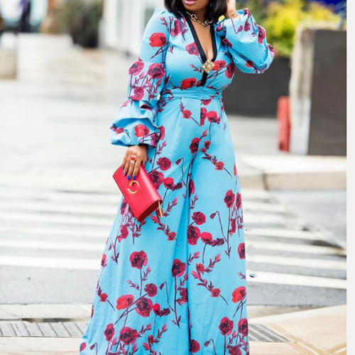 Floral Slim Wide Legs Jumpsuit