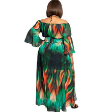 Load image into Gallery viewer, Plus Size Off Shoulder Loose Split Long Maxi Dress