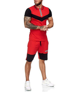 2 Piece Men's Short Sleeve Top And Shorts