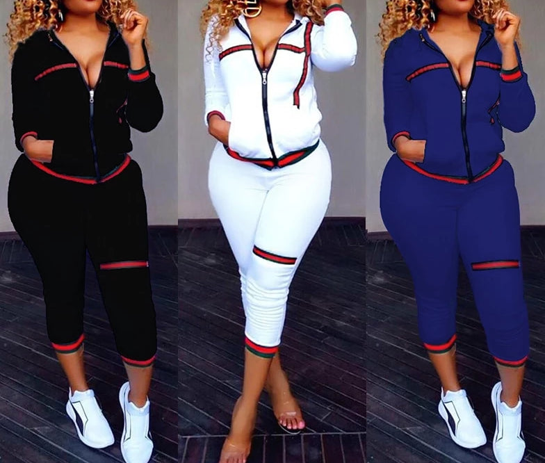 Two Piece Long Sleeve Trendy Tracksuit