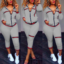 Load image into Gallery viewer, Two Piece Long Sleeve Trendy Tracksuit