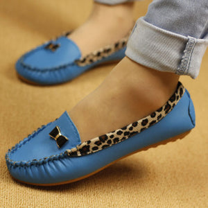 Spring and Autumn Flats for Women Flat heel Shoes Fashion Leopard Flats Women Shoes Casual Soft Comfortable Loafers Hot Sale - kats closet1