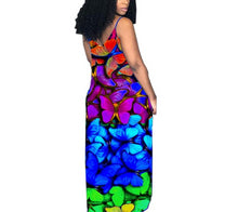 Load image into Gallery viewer, Butterfly Print Spaghetti Strap Loose Maxi Dress