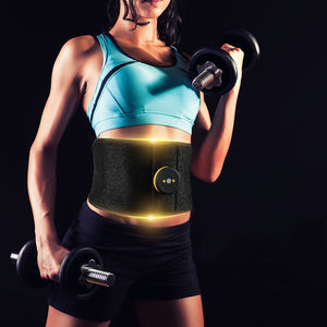 Vibration Abdominal Muscle Trainer Fitness Massager Waist Support EMS Stimulator Fat Burning Slimming Body Belt Gym Weight Loss