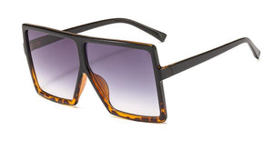 Oversize Luxury Square Transparent Sunglasses