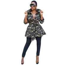 Load image into Gallery viewer, Sequined Long Sleeve Camouflage Fashion Jacket