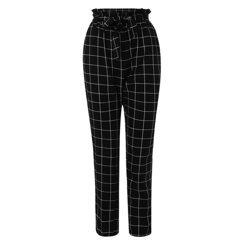 Plus Size Fashion Skinny High Waist Pencil Black Pants