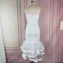 Load image into Gallery viewer, White Party Tube Top Wedding Off Shoulder Mesh Dress