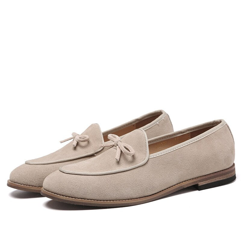 Slip On Men Suede Tie Casual Moccasins Loafers