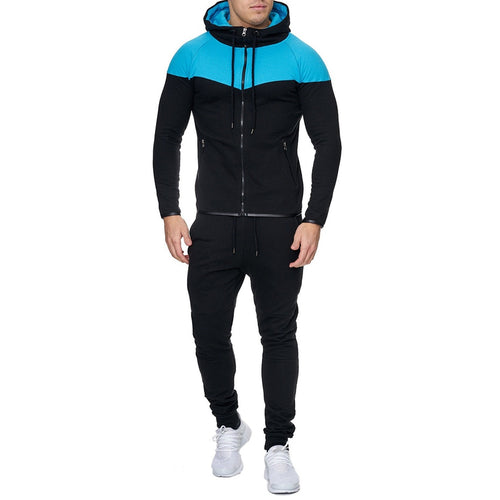 Color Block Hooded Sportswear Sweatsuit - kats closet1