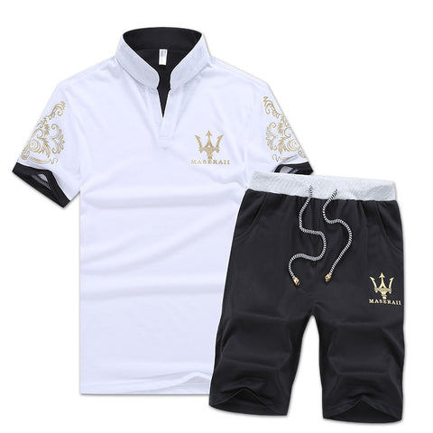 2 Piece Casual Shorts Set