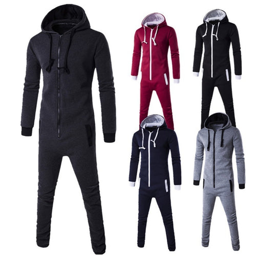 Men Winter Fashion Hooded Jumpsuit - kats closet1