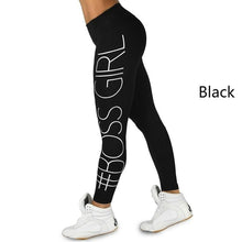 Load image into Gallery viewer, Women's Pants Boss Girl Tight Hip Printing Yoga Leggings - kats closet1