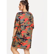 Load image into Gallery viewer, Drop Shoulder Camo Print Tee - kats closet1