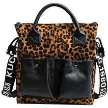 Load image into Gallery viewer, Leopard Design Women Shoulder Handbag