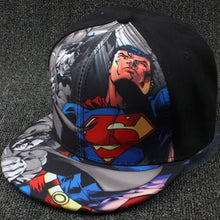Load image into Gallery viewer, High Quality Children's Hip-hop Elegant Art Wonderful Baseball Cap Superman Batman Cartoon Baseball Caps 2016 Hats for Children - kats closet1