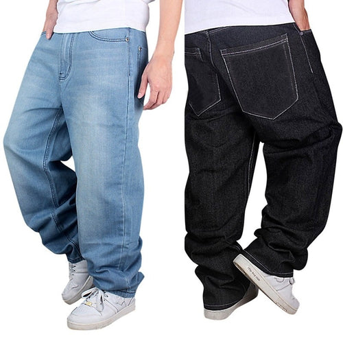 Men's Fashion Jeans Straight Plus size loose Denim Jeans - kats closet1