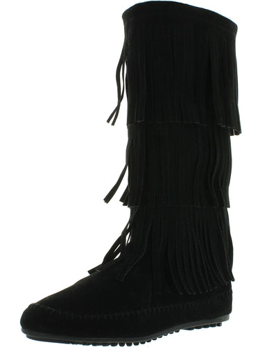 Nature Breeze Womens Cherokee-03 Fringe Mocassin Faux Suede BootsNature Breeze Womens Cherokee-03 Fringe Mocassin Faux Suede Boots - kats closet1