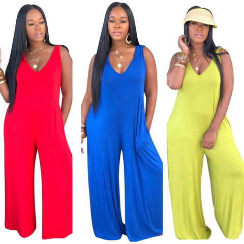 Sleeveless Loose Comfortable Breathable Jumpsuit