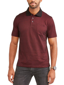 Men's Short Sleeve Pattern Jersey Polo, up to Size 5XLMen's Short Sleeve Pattern Jersey Polo, up to Size 5XL - kats closet1