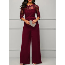 Load image into Gallery viewer, Sexy Lace Long Sleeve Jumpsuits Set - kats closet1