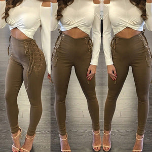 Women Yoga Fitness Leggings Running Gym Stretch Sports High Waist Pants Trousers - kats closet1