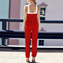 Load image into Gallery viewer, Cross Sleeveless Bodycon Wide Leg Jumpsuit - kats closet1