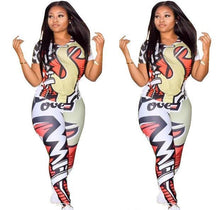 Load image into Gallery viewer, Colorful Print Casual 2 Piece Outfit - kats closet1