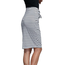 Load image into Gallery viewer, Women Fashion Bandage Slim Solid Striped Skirt Sexy High Waist Pencil Skirt - kats closet1