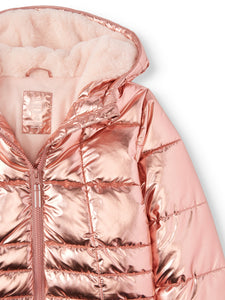 Metallic Quilted Bubble Jacket (Little Girls, Big Girls)