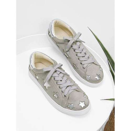 Star Pattern Lace Up Sneakers - kats closet1