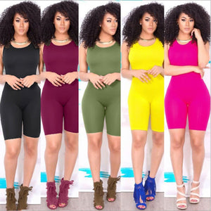 Sleeveless Bodycon  5Colors Jumpsuit