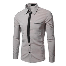 Load image into Gallery viewer, Long Sleeve With Pockets Casual Dress Shirt