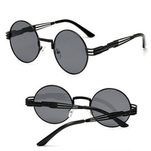 Load image into Gallery viewer, Gothic Steampunk Men / Women Metal Wrap Round Shades Sunglasses - kats closet1