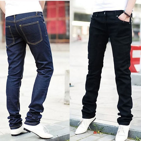 Men Skinny Distressed Slim Jeans - kats closet1