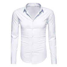 Load image into Gallery viewer, Solid Color Button Casual Long Sleeve Shirt