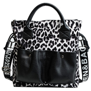 Leopard Design Women Shoulder Handbag