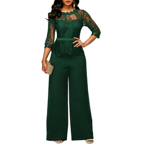 Sexy Lace Long Sleeve Jumpsuits Set - kats closet1