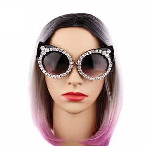 Oversize Diamond Cat Eye Sunglasses