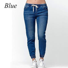 Load image into Gallery viewer, 4 Colors Womens Chic Drawstring Skinny Denim Jogger Jeans - kats closet1