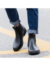 Load image into Gallery viewer, Meigar Mens Casual Chelsea boots ankle Punk high top rain boots shoes outdoor pull onMeigar Mens Casual Chelsea boots ankle Punk high top rain boots shoes outdoor pull on - kats closet1