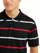 Load image into Gallery viewer, Men's Yarn Dyed Stripe Jersey Polo, Up To Size 5XL - kats closet1