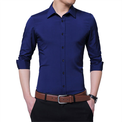 Casual Long Sleeve Slim Fit Business Shirt