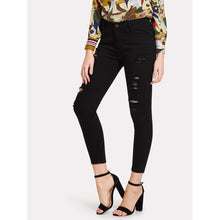 Load image into Gallery viewer, Ripped Skinny Jeans - kats closet1