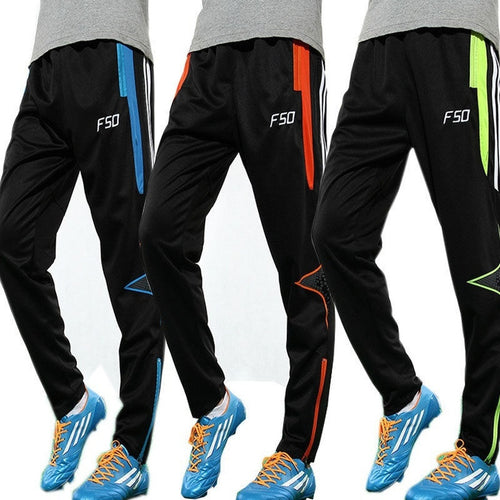 Men's Skinny Soccer Pants Football Training Sweat Pants - kats closet1