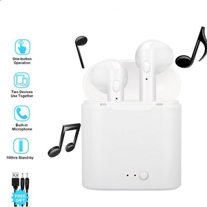Mini Wireless Bluetooth 5.0 Earphones  Stereo Earbuds Hands Free Headset  With Mic